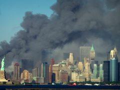 Thick smoke billows into the sky (Daniel Hulshizer/AP)