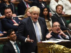 Boris Johnson during Prime Minister's Questions (Jessica Taylor/UK Parliament/PA)
