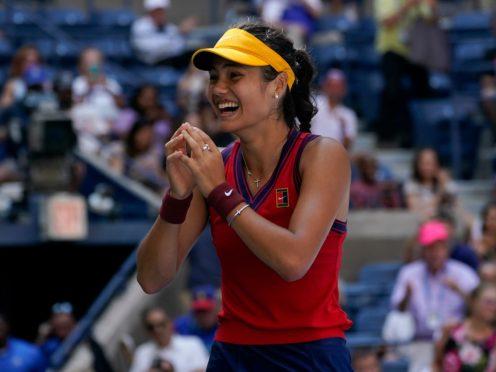 Emma Raducanu has reached the US Open semi-finals (Elise Amendola/AP)