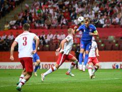 Harry Kane scored for England (Rafal Oleksiewicz/AP)