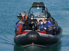 A group of people thought to be migrants are brought in to Dover, Kent, following a small boat incident in the Channel. (Gareth Fuller/PA) Picture date: Thursday September 9, 2021.
