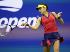 Emma Raducanu in action against Greece's Maria Sakkari during the women's semi-final of the US Open (ZUMA/PA)