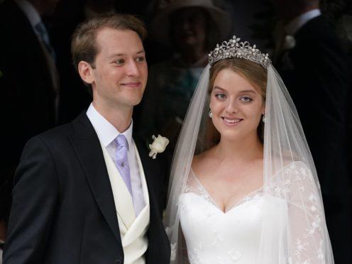 Flora Ogilvy with her husband Timothy Vesterberg (Jonathan Brady/PA)