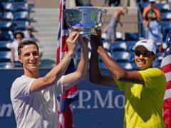 Joe Salisbury added the mixed doubles to his men's doubles title (Elise Amendola/AP)
