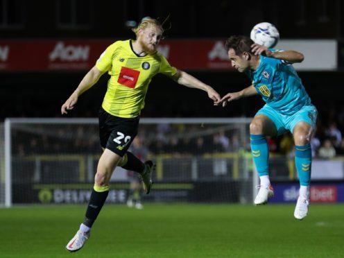 Luke Armstrong scored for Harrogate (Isaac Parkin/PA)