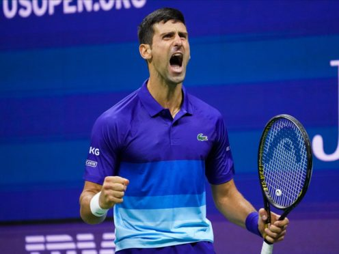 Novak Djokovic battled to a five-set win over Alexander Zverev (John Minchillo/AP)