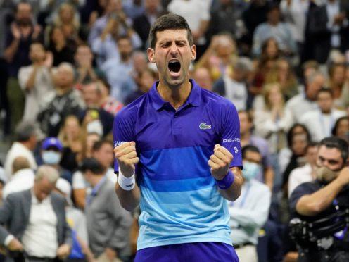 Novak Djokovic is targeting a calendar year Grand Slam in Sunday's US Open final (Elise Amendola/AP/PA)