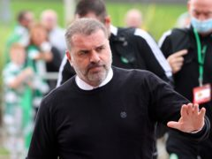 Celtic manager Ange Postecoglou, pictured, was surprised by the departure of chief executive Dominic McKay (Jeff Holmes/PA)