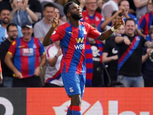 Odsonne Edouard is ready to start for Crystal Palace against Brighton (Adam Davy/PA)