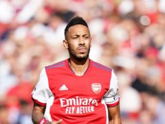 Arsenal's Pierre-Emerick Aubameyang during the Premier League match at The Emirates Stadium, London. Picture date: Saturday September 11, 2021.