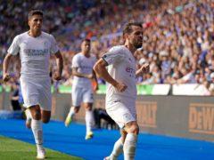 Manchester City's Bernardo Silva celebrates his winner (Nick Potts/PA).