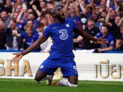 Romelu Lukaku scored in each half for Chelsea (Adam Davy/PA)