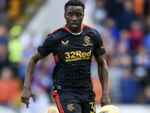 Fashion Sakala is off the mark for Rangers (Ian Rutherford/PA)