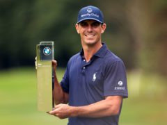 Billy Horschel lifts the trophy after winning the BMW PGA Championship at Wentworth (Steven Paston/PA)