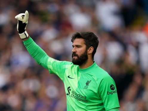 Liverpool goalkeeper Alisson Becker wants a solution to the quarantine issue before next month's international matches (Mike Egerton/PA)