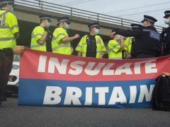 Further protests will take place on Monday (Insulate Britain/PA)