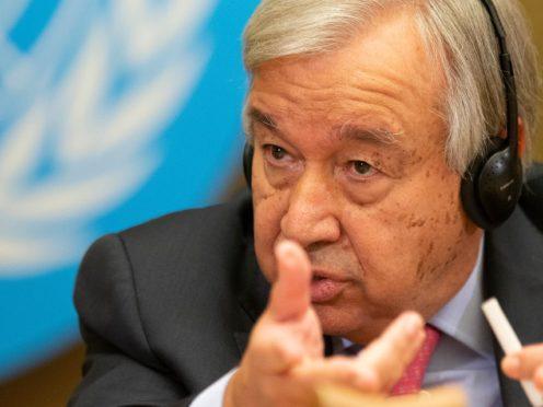 UN Secretary-General Antonio Guterres (Keystone/AP)