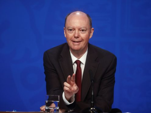 Chief medical officer for England Chris Whitty (Hannah McKay/PA)