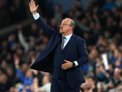 Everton manager Rafael Benitez wishes his side would score earlier to save him stress on the sidelines (Martin Rickett/PA Images).