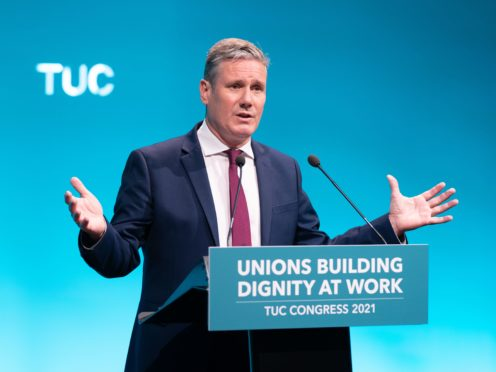 Labour leader Sir Keir Starmer speaking at the TUC congress in London (PA)