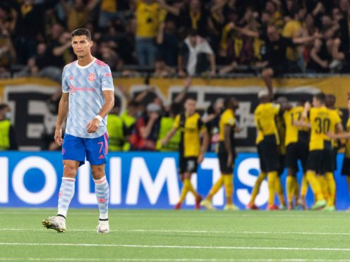 Not even Cristiano Ronaldo could spare Manchester United's blushes in Bern (Peter Klaunzer/AP)