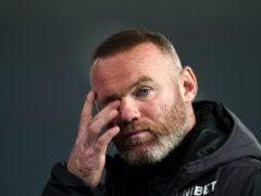 Wayne Rooney found out Derby are set to enter administration on the television (Nick Potts/PA)