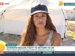 Video grab of Shamima Begum speaking to Good Morning Britain from the al-Roj camp in Syria (GMB/ITV)