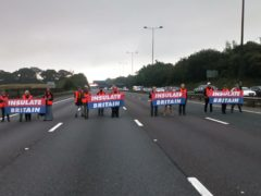 Insulate Britain protesters caused huge queues of traffic when they blocked sections of the M25 (Insulate Britain/PA)