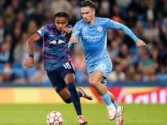 Jack Grealish (right) shone for Manchester City against Leipzig (Zac Goodwin/PA)