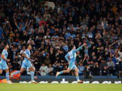 Jack Grealish scored his first Champions League goal (Zac Goodwin/PA)