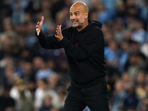 Manchester City manager Pep Guardiola is hoping for a full house against Southampton on Saturday (Martin Rickett/PA)