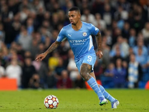 Gabriel Jesus, pictured, insists Chelsea's run of three wins never affected Manchester City (Martin Rickett/PA)
