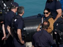 Home Secretary Priti Patel during a visit to the Border Force facility in Dover, Kent. (Gareth Fuller/PA) Picture date: Thursday September 16, 2021.