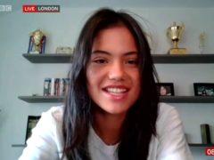 Emma Raducanu appears on BBC Breakfast via video link (BBC/PA Media)