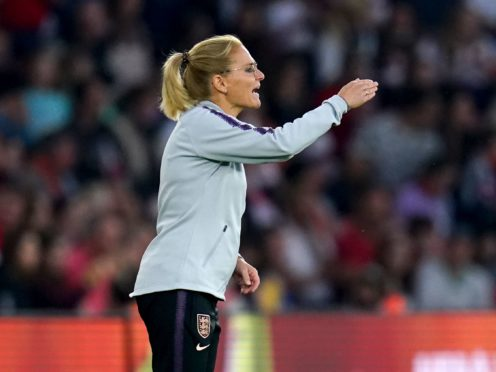Sarina Wiegman oversaw a comfortable victory over North Macedonia in her first game as England manager (John Walton/PA)