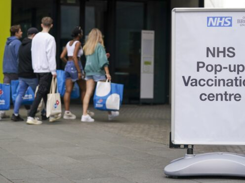 A pop-up vaccination clinic at the Oxford Brookes University's Headington Campus in Oxford (Steve Parsons/PA)