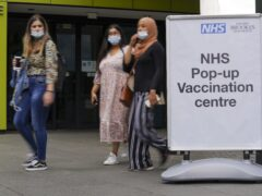 A pop-up Covid-19 vaccination clinic at Oxford Brookes University (Steve Parsons/PA)