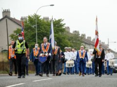 Orange Order marches this weekend resulted in 14 arrests, Police Scotland say (Robert Perry/PA)
