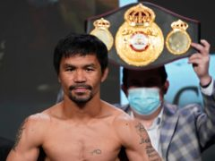 Manny Pacquiao, of the Philippines (John Locher/PA)