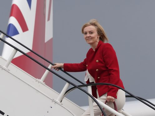 Foreign Secretary Liz Truss is in the US for the United Nations general assembly (Stefan Rousseau/PA)
