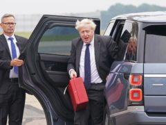 Prime Minister Boris Johnson has arrived in the US (Stefan Rousseau/PA)