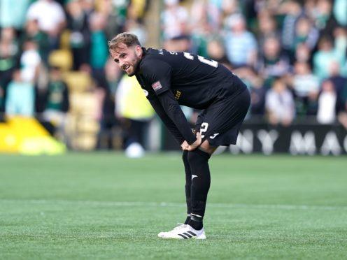 Andrew Shinnie netted the winner against Celtic for Livingston (Andrew Milligan/PA)