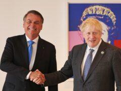 Boris Johnson and Jair Bolsonaro (Michael M Santiago/PA)
