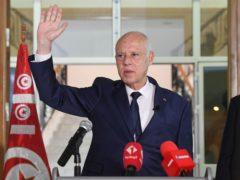Tunisian President Kais Saied (Slim Abid/AP)