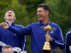 Europe's Ryder Cup captain Padraig Harrington will get a tattoo if his team win at Whistling Straits (Charlie Neibergall/AP)