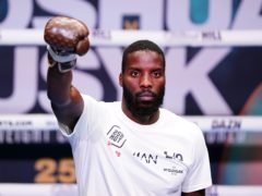 Lawrence Okolie will make the first defence of his WBO cruiserweight title this weekend (Zac Goodwin/PA)