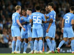 A young Manchester City side began their Carabao Cup defence with victory over Wycombe (Barrington Coombs/PA)