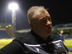 Gillingham manager Steve Evans was concerned after goalkeeper Jamie Cumming clashed with Cambridge fans (Steven Paston/PA)