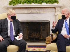 Prime Minister Boris Johnson (left) meets US President Joe Biden (Stefan Rousseau/PA)