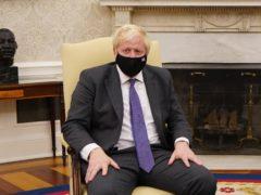 Boris Johnson meets US President Joe Biden in the Oval Office of the White House (Stefan Rousseau/PA)